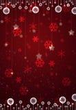 Cartão vermelho do Natal Imagem de Stock Royalty Free
