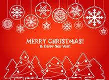Cartão vermelho do Natal Imagem de Stock