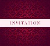 Cartão vermelho do ornamento Imagens de Stock