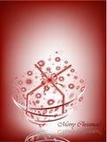Cartão vermelho do presente Fotografia de Stock Royalty Free