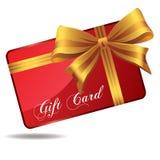 Cartão vermelho do presente Foto de Stock Royalty Free