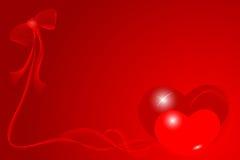 Cartão vermelho do Valentim Fotografia de Stock Royalty Free