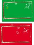 Cartão vermelho e verde Fotos de Stock