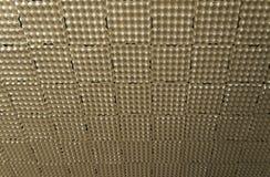 Cartón de huevos vacío usado como textura acústica del aislamiento del estudio de la música imágenes de archivo libres de regalías