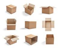 Cartón de la cartulina de la entrega del paquete de la caja fotos de archivo