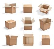 Cartón de la cartulina de la entrega del paquete de la caja foto de archivo libre de regalías