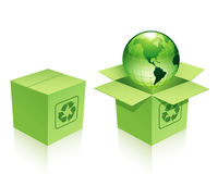 Cartón de protección del medio ambiente Foto de archivo