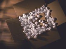 Cartón del envío Fotografía de archivo