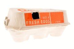 Cartón del huevo Fotos de archivo libres de regalías