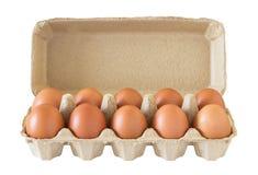 Cartón del huevo fresco Foto de archivo libre de regalías