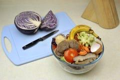 Cartón inútil de la cocina Foto de archivo