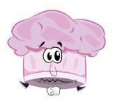 Cartón triste del sombrero del cocinero Imagen de archivo libre de regalías