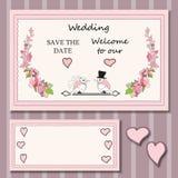Cartões à moda com elementos decorativos Fotos de Stock Royalty Free