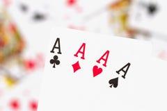 Cartões, áss e palhaço 4 Imagem de Stock
