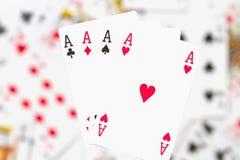 Cartões, áss e palhaço 7 Imagem de Stock Royalty Free