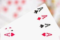 Cartões, áss e palhaço 8 Fotos de Stock