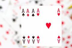 Cartões, áss e palhaço 9 Imagem de Stock Royalty Free