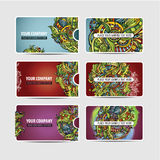 Cartões étnicos decorativos decorativos do vetor Imagens de Stock Royalty Free
