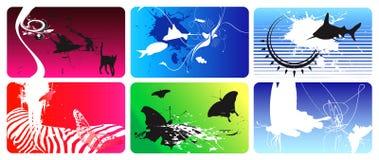 Cartões 2 Ilustração do Vetor