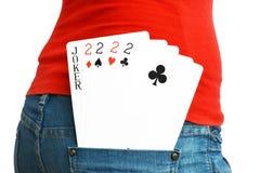 5 cartões Fotografia de Stock