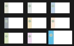Cartões abotoados Imagem de Stock Royalty Free