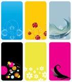 Cartões ajustados Ilustração Stock