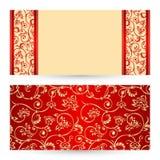 Cartões ajustados do cumprimento ou do convite do vetor Imagens de Stock