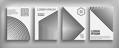 Cartões ajustados do projeto da tampa do folheto isolados Projeto liso da forma dinâmica Cartaz, bandeira, inseto, cartaz, cartão Imagens de Stock Royalty Free