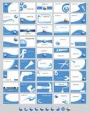 Cartões azuis Imagem de Stock Royalty Free