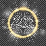 2018, cartões brancos e pretos com Feliz Natal text ilustração do vetor