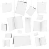 Cartões brancos em branco do vetor Foto de Stock