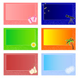 Cartões coloridos Imagens de Stock Royalty Free