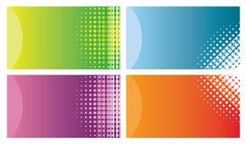 Cartões coloridos ilustração stock