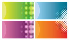Cartões coloridos Fotos de Stock Royalty Free