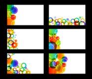 Cartões coloridos arco-íris Imagem de Stock Royalty Free
