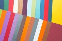 Cartões coloridos do cartão Imagens de Stock Royalty Free