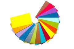 Cartões coloridos do cartão Foto de Stock Royalty Free