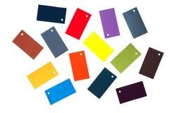 Cartões coloridos do cartão Fotografia de Stock Royalty Free