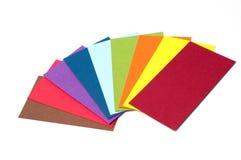 Cartões coloridos do cartão Fotos de Stock Royalty Free