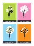 Cartões com árvores Imagem de Stock