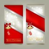 Cartões com curvas vermelhas Imagem de Stock Royalty Free