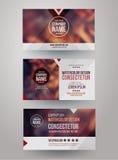 Cartões com fundo abstrato borrado Imagens de Stock Royalty Free