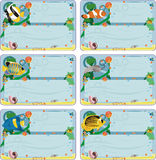 Cartões com os peixes Imagens de Stock