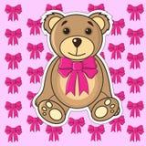 Cartões com os ursos no vetor ilustração stock