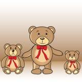 Cartões com os ursos no vetor ilustração royalty free