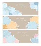 Cartões com peônias Foto de Stock