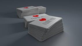 Cartões com sombra macia ilustração 3D Fotos de Stock Royalty Free