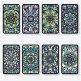 Cartões com teste padrão do caleidoscópio Foto de Stock