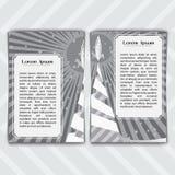 Cartões com um Rocket Imagens de Stock Royalty Free