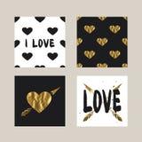 Cartões com uma cópia na moda do moderno Imagem de Stock Royalty Free